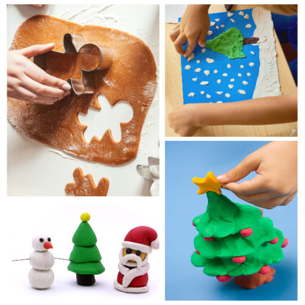 HOLIDAY PLAY DOUGH: Easy recipes for Christmas play dough (Gingerbread, candy cane, sugar cookie, & more!) #playdough #playdoughrecipe #playdoughrecipenocook #christmasplaydough #christmasplaydoughrecipe #playdoughrecipeeasy #growingajeweledrose