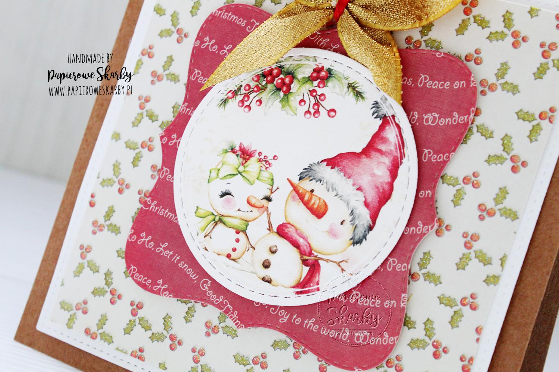 scrapbooking cardmaking handmade rękodzieło kartka kartki boże narodzenie święta bożego narodzenia merry christmas i love digi ilovedigi papierowe skarby karta z życzeniami wesołych świąt