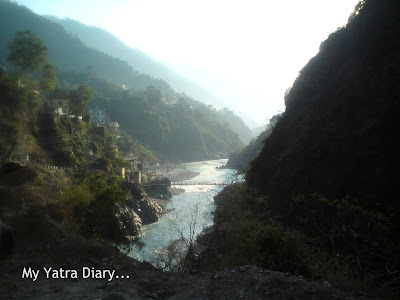 River Ganga at Devprayag in the Garhwal Himalayas in Uttarakhand