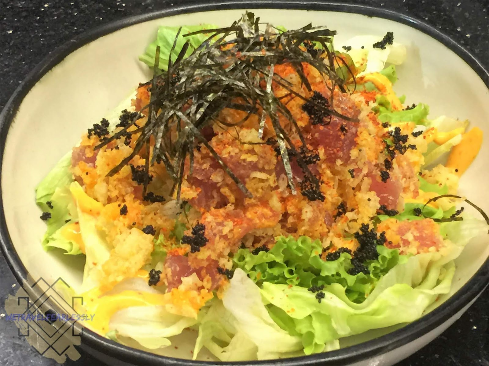 Spicy Maguro Salad (PHP290) in Soru Izakaya in Burgos Circle, BGC - WTF Review
