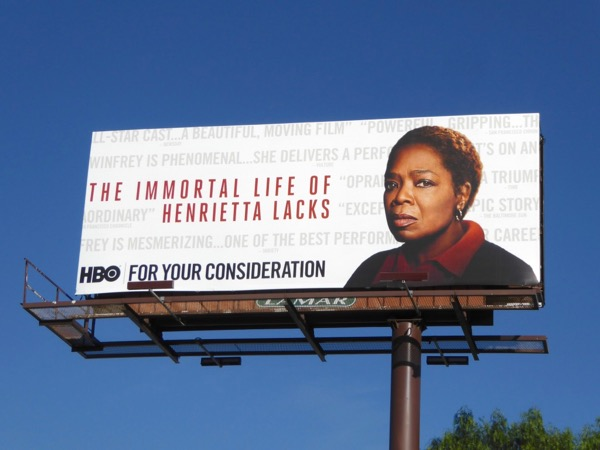 Immortal Life Henrietta Lacks Golden Globes FYC billboard
