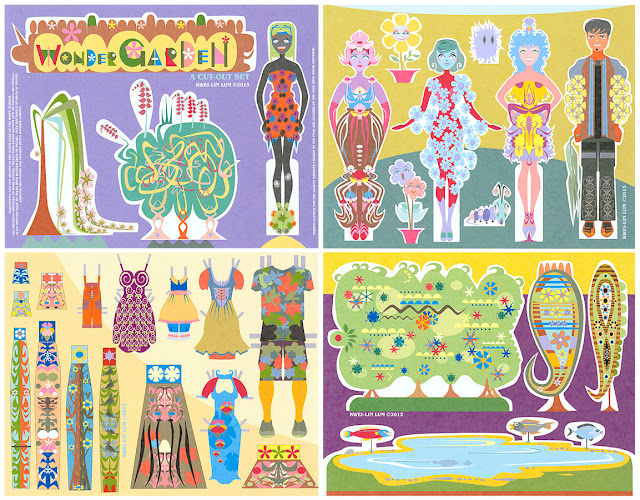 Wonder Garden Paper Doll by Kwei-lin Lum