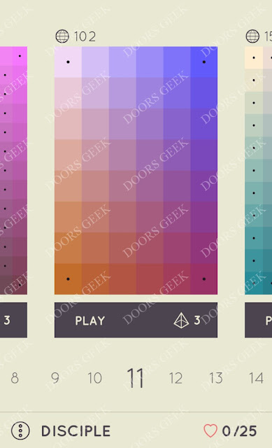 I Love Hue Disciple Level 11 Solution, Cheats, Walkthrough
