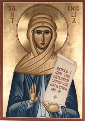 Saint Emilia Mother to Vasileios