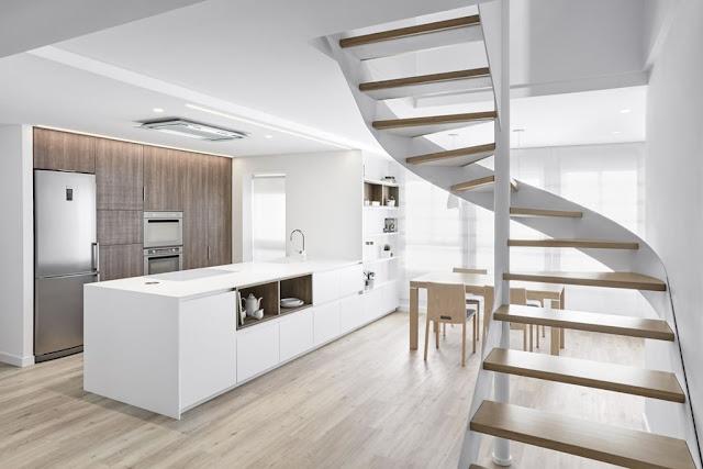 Un dise o abierto y luminoso que no decepciona cocinas for Cocinas modernas blancas precios