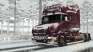 Snowy paint job for Scania T (1,22)