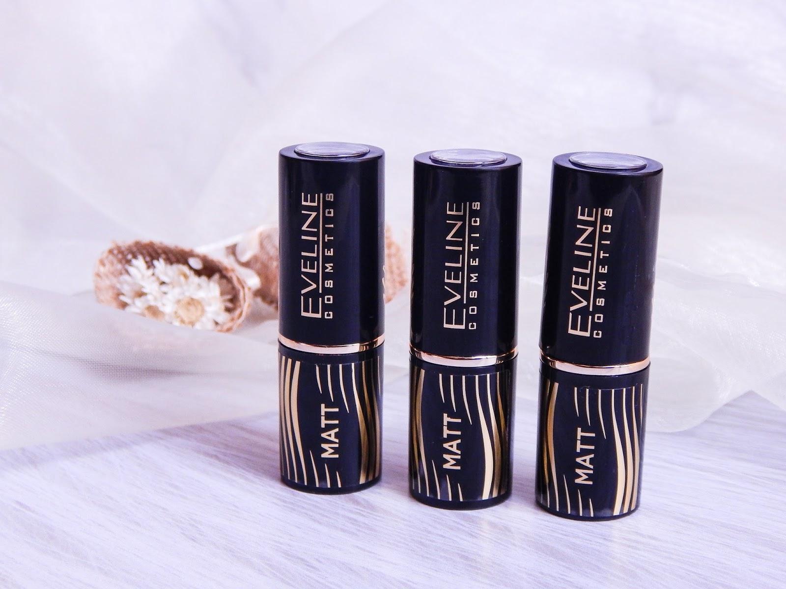 eveline velvet matt lipstick precious oils lip elixir matowe pomadki błyszczyki olejki do ust recenzja eveline cosmetics