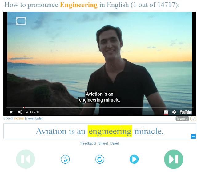 تحسين اللغة الإنجليزية من خلال موقع Youglish - كورسات