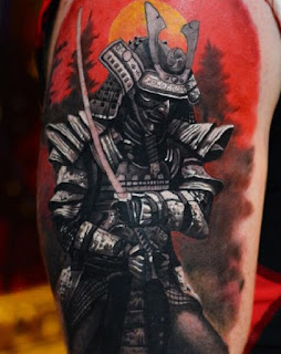 tato samurai keren berwarna
