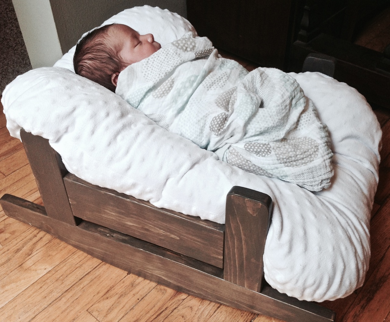 The Project Lady Diy Wooden Baby Pillow Rocker Bassinet
