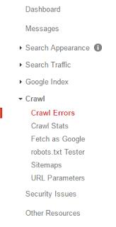 Dashboard google webmaster