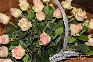 Zupełnie nowe Artnova24: Kosz z różami krok po kroku. Tutorial florystyczny XD39