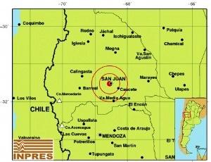 La magnitud fue de 2.8 grados y con una profundidad de apenas 5 kilómetros. Lo que hizo que los sanjuaninos lo sintieran fuertemente y con esto el bramido que generó temor en muchas personas.