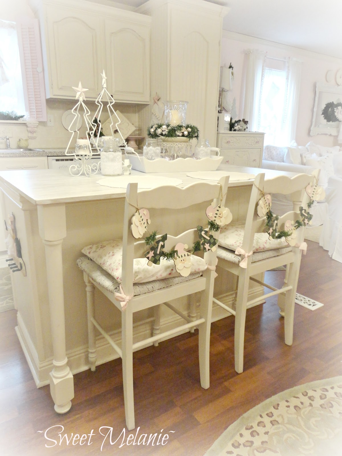 Shabby Chic Kitchen Decor Cabinets Knobs Christmas Home Tour Debbiedoo 39s