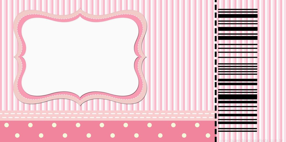 Rayas Y Lunares Blanco Y Rosa: Invitaciones Para Imprimir