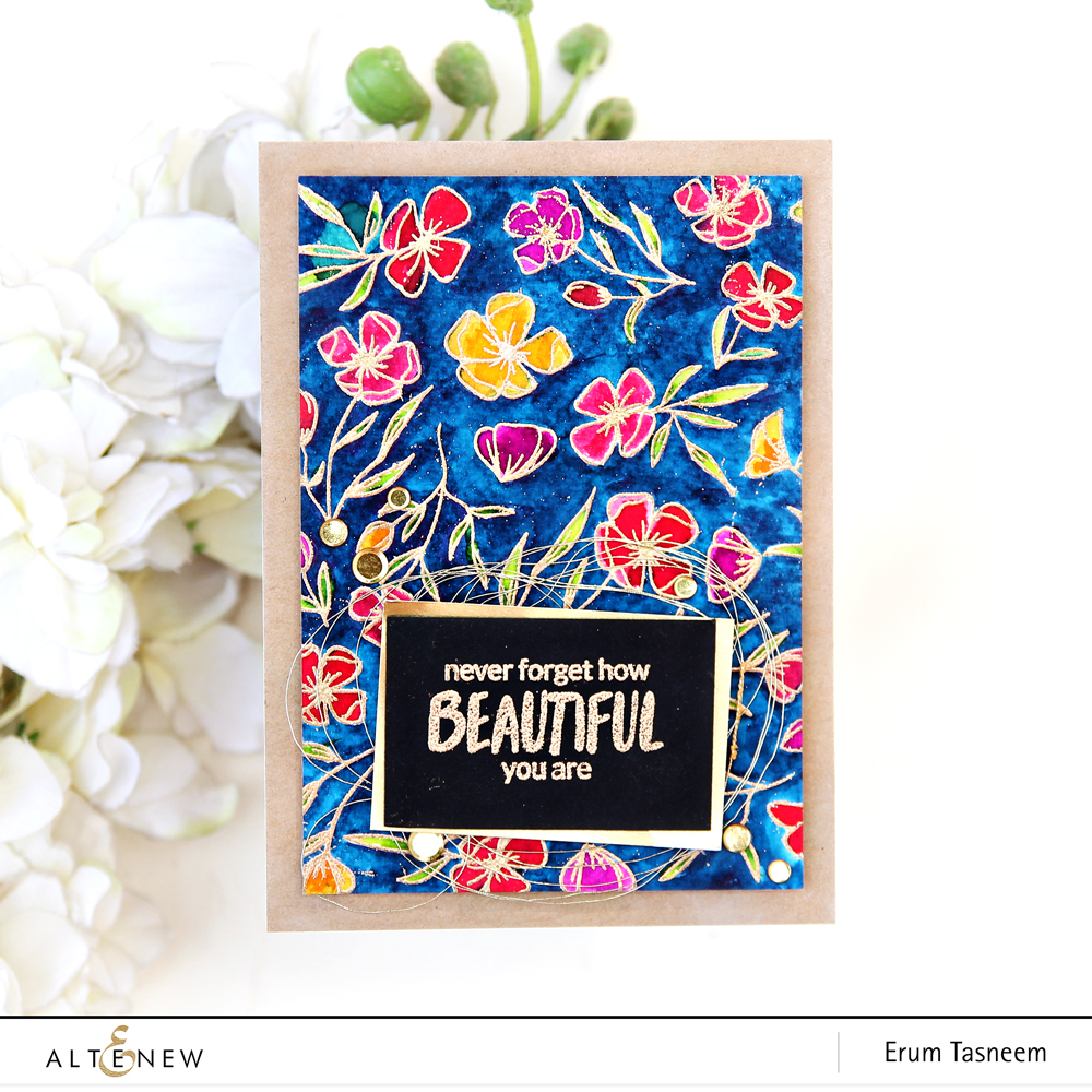 Altenew Delicate Flower Bed Stamp Set | Erum Tasneem | @pr0digy0
