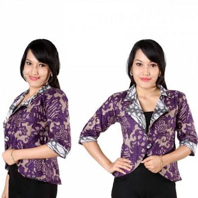Blazer Batik Wanita Modern untuk Anak Muda