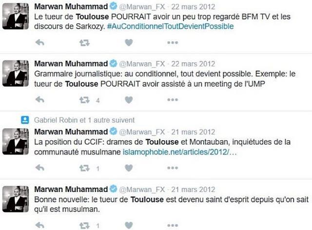 Réactions de Marwan Muhammad aux attentats de Toulouse