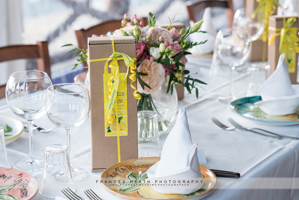 Limoncello table decoration