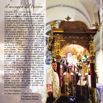 programma grande festa estiva sant'antonio abate aci sant'antonio