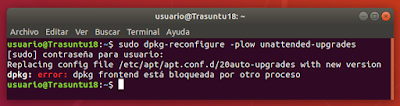 sudo dpkg-reconfigure -plow unattended-upgrades error
