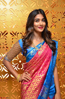 Puja Hegde looks stunning in Red saree at launch of Anutex shopping mall ~ Celebrities Galleries 002.JPG
