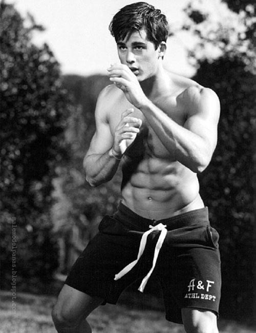 sixpack guy in boxer