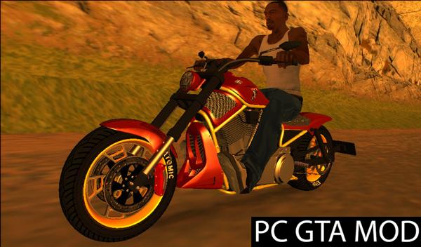 Free Download  GTA V Western Motorcycle Nightblade  Mod for GTA San Andreas.
