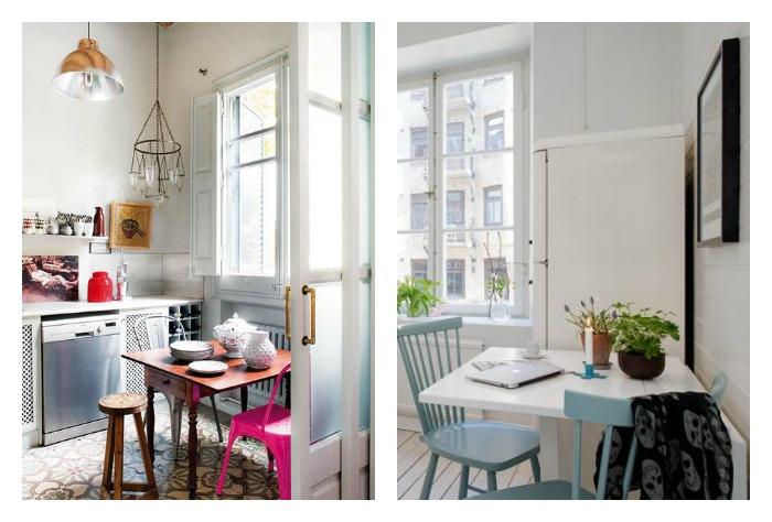 mesas plegables en cocina para comer