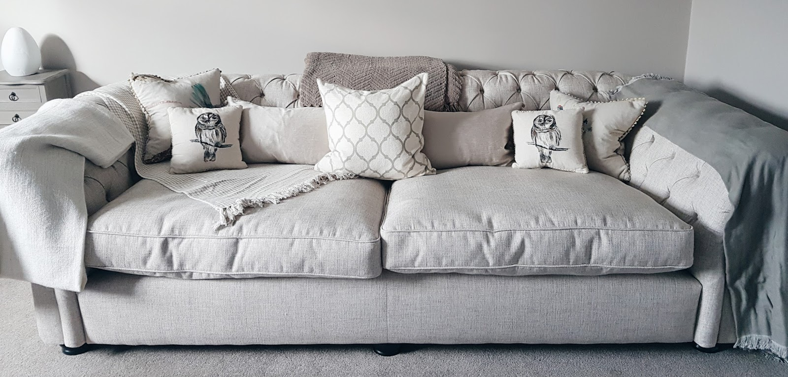 Chesterfield Sofa Marks and Spencer White Interior