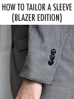 Sleeves too long on your suit jacket? No problem! Here's a way to alter them
