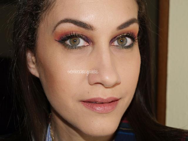 maquillaje contraste verde