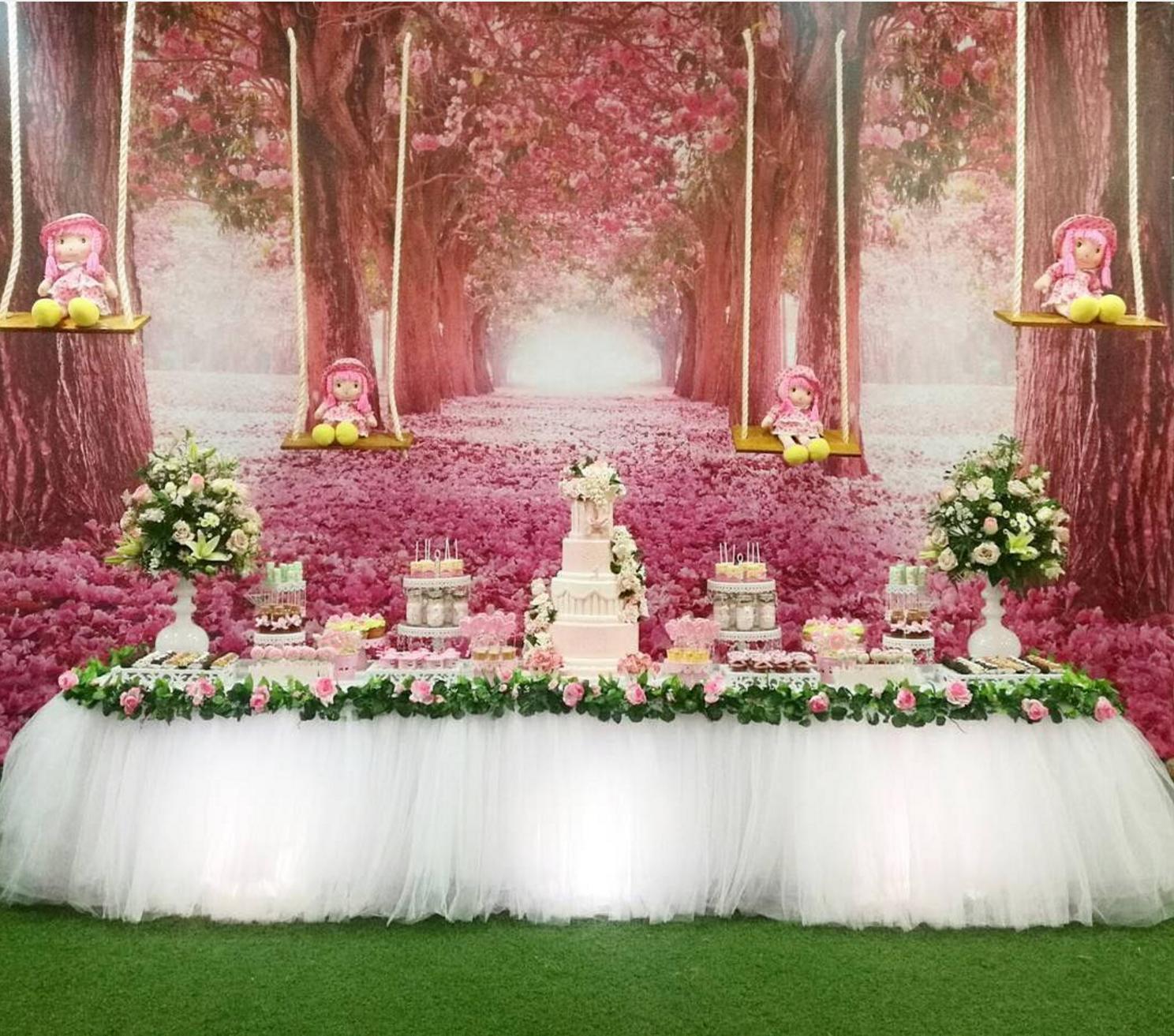 101 fiestas linda fiesta con el tema jard n for Detalles para decorar jardines