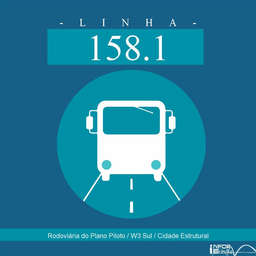 Horário de ônibus e itinerário 158.1 - Rodoviária do Plano Piloto / W3 Sul / Cidade Estrutural