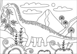 Cute Brachiosaurus Coloring Pages