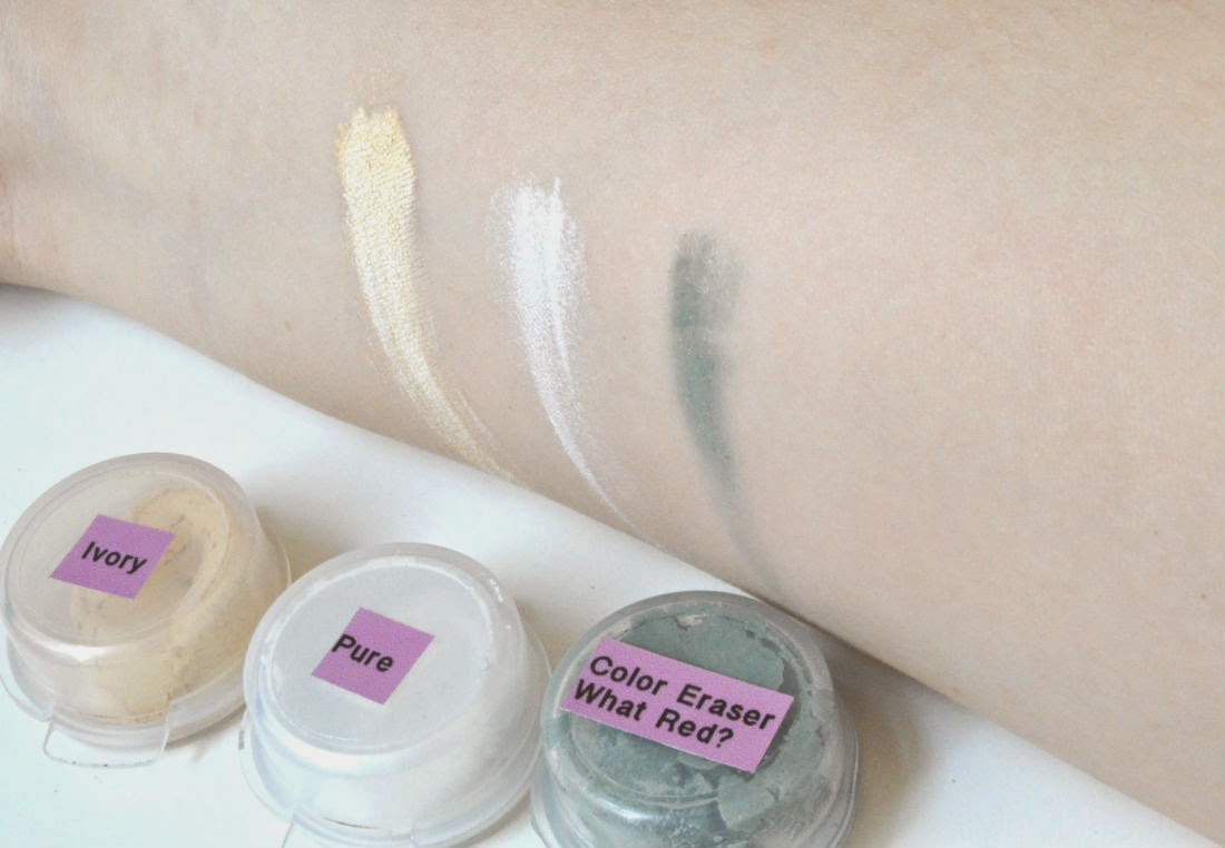 Pure Luxe Cosmetics Swatch Ivory Pure What Red