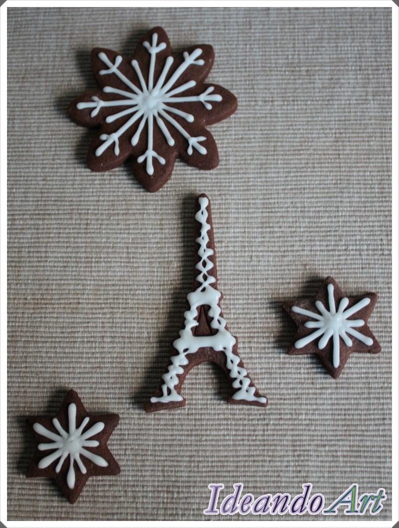 Galletas Torre Eiffel chocolate