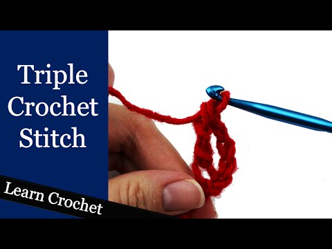 How to Triple Crochet Stitch or Treble Crochet Stitch