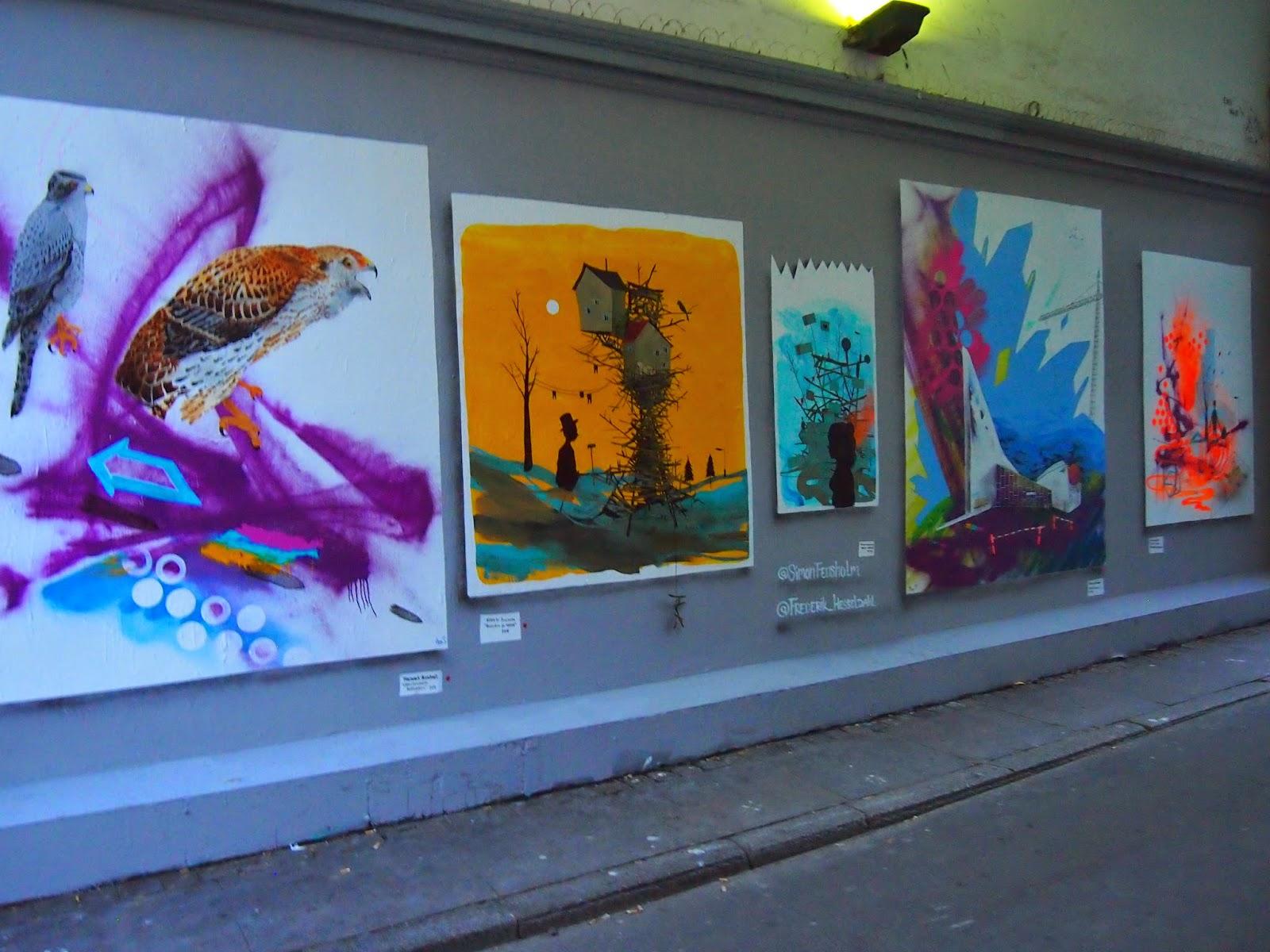 a street art outdoor gallery in copenhagen