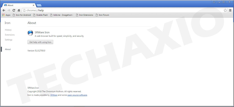 SRWare Iron Browser Screenshot