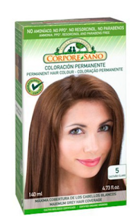Tinte para el pelo de coloración permanente de Corpore Sano