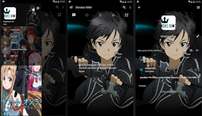 BBM MOD ANIME Sword Art Online GGO v3.1.0.13 Full Features Apk Terbaru Clone / Unclone