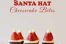 Santa Hat Cheesecake Bites! {No Bake}
