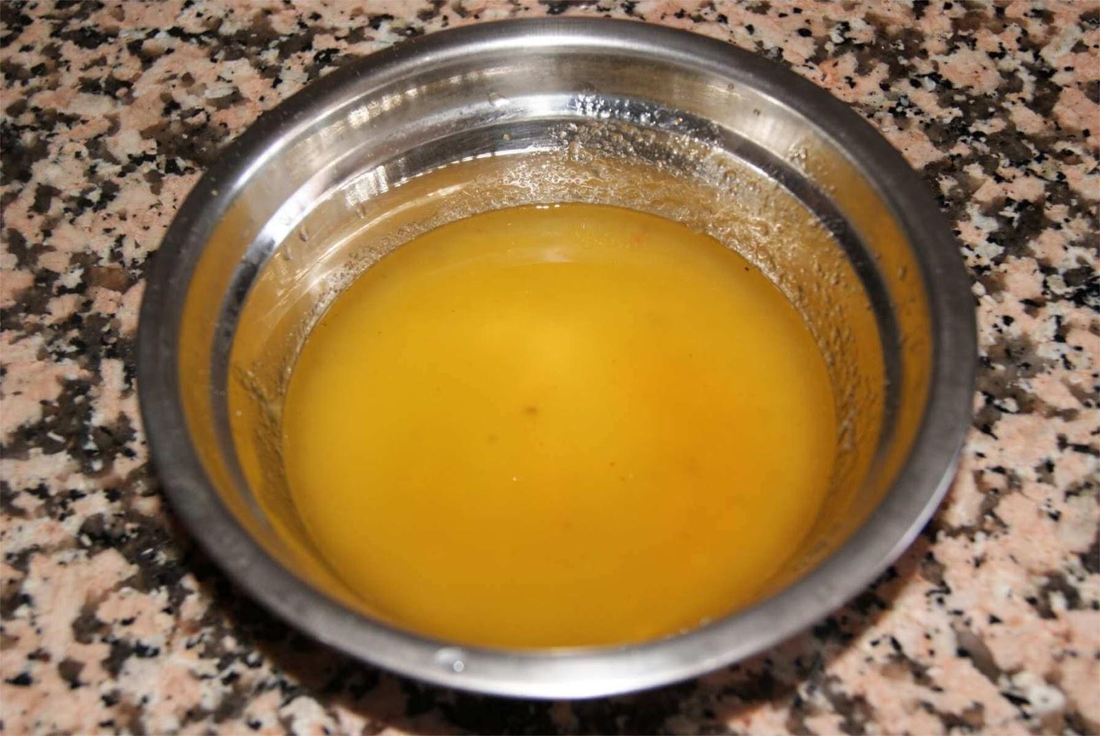 receta de ensalada con vinagreta de melocotón paso 2
