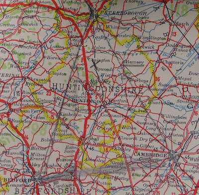 Shell Touring Map found in Josef Jakobs' possession - showing triangle (National Archives - KV 2/27)