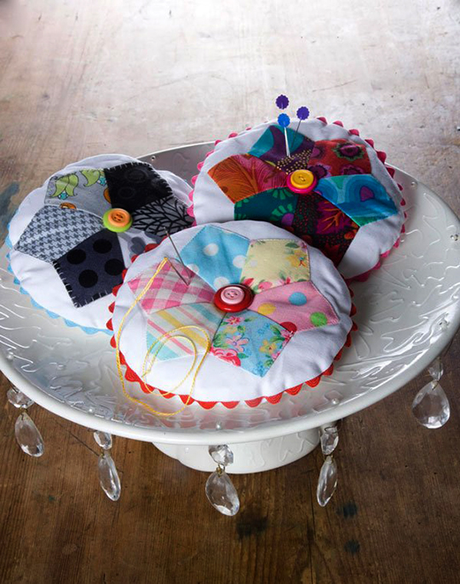 Dresden Pincushions Free Pattern Designed by Monica Solorio-Snow of Happy Zombie for All People Quilt
