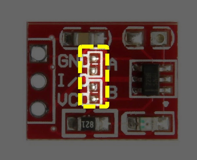TTP223 CAPACITIVE TOUCH SENSOR SETING MODE