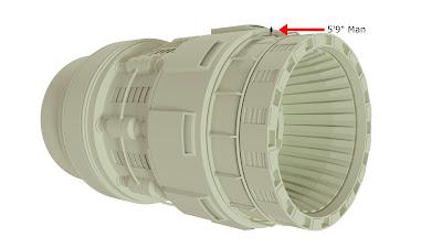 Spacehip engine size comparison