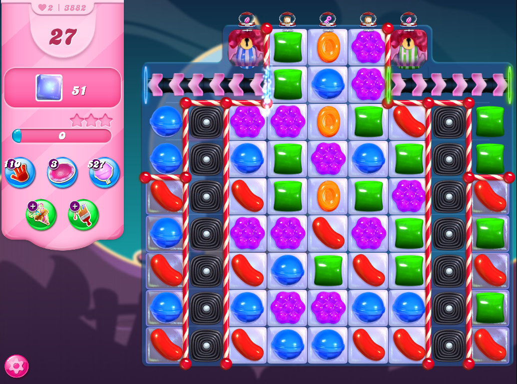 Candy Crush Saga level 3882