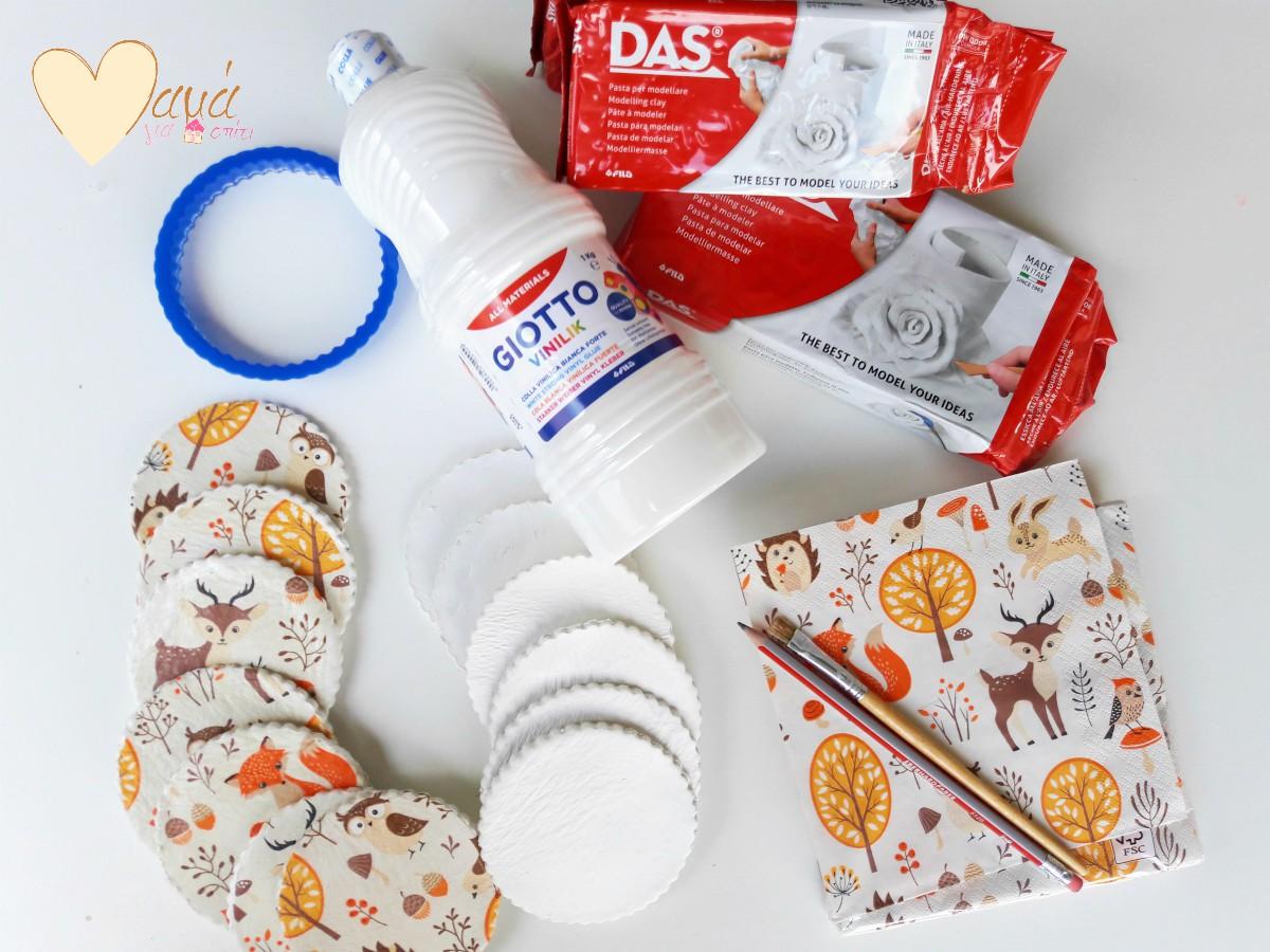 Φτιάχνοντας τις δικές σας πήλινες diy μπομπονιέρες με υλικά DAS&GIOTTO!